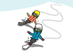 松本佳之のスノーボード上達革命・イラスト3